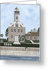 Morgan Point Mystic Harbor Conn Greeting Card