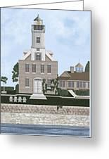 Morgan Point Mystic Harbor Conn Greeting Card