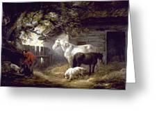 Morland: Farmyard, 1792 Greeting Card
