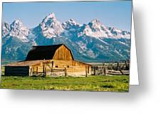 Mormon Barn Greeting Card