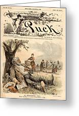 Mormon Cartoon, 1887 Greeting Card