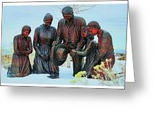 Mormon Handcart Family Monument Greeting Card