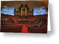 Mormon Meeting Hall Greeting Card