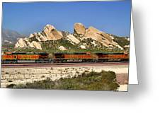 Mormon Rocks California Greeting Card