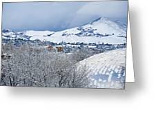 Mormon Tabernacle In Snow II Greeting Card