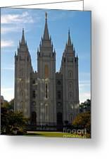 Mormon Temple Fall Greeting Card