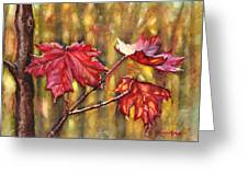 Morning After Autumn Rain Greeting Card