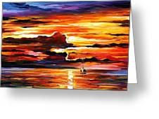 Morning After The Storm - Palette Knife Oil Painting On Canvas By Leonid Afremov Greeting Card