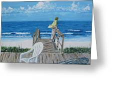 Morning At Blue Mountain Beach Greeting Card