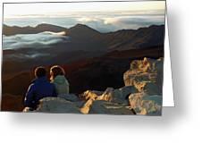 Morning At Haleakala  Greeting Card