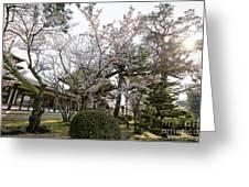 Morning At Horyu-ji Temple Greeting Card