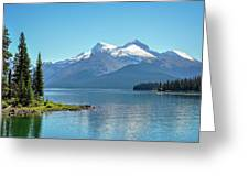 Morning At Lake Maligne, Canada Greeting Card