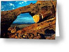 Morning At Landscape Arch Greeting Card