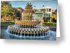 Morning At Pineapple Fountain Greeting Card