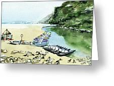 Morning At Porto Novo Beach Greeting Card