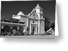 Morning At San Luis Rey Mission Greeting Card