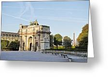 Morning At The Arc De Triomphe Du Carrousel  Greeting Card