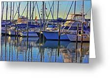 Morning At The Marina Greeting Card