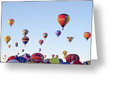 Morning Ballon Rise Greeting Card