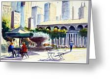Morning, Bryant Park  Greeting Card