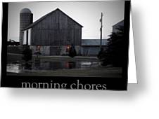 Morning Chores Greeting Card