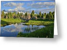 Morning Clouds Over Tetons Greeting Card