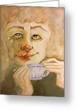 Morning Coffee Girl Greeting Card