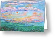 Morning Color Dance Greeting Card