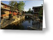 Morning Comes To Lijiang Ancient Town Greeting Card
