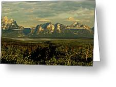 Morning Dawns On The Tetons Greeting Card