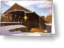 Morning Finds The Rowell Bridge Greeting Card