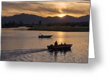Morning Fishing 4 Greeting Card