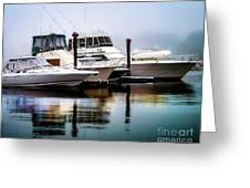 Morning Fog At Boothbay Greeting Card