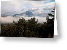 Morning Fog In Autumn In The Verdon Greeting Card