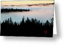Morning Fog In Northern Saskatchewan Greeting Card