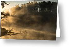 Morning Fog In The Boundary Waters Greeting Card