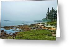 Morning Fog - Maine Greeting Card