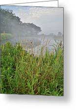 Morning Fog On Glacial Park Pond Greeting Card