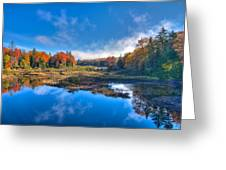 Morning Fog On The Moose River Greeting Card