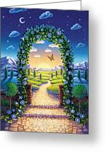 Morning Glory - Awaken To Magic Greeting Card by Anne Wertheim