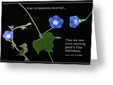 Morning Glory Composite Greeting Card