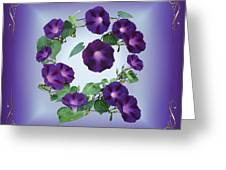 Morning Glory Design Greeting Card
