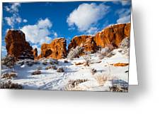 Morning Glow At Arches I Greeting Card