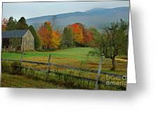 Morning Grove - New England Fall Monadnock Farm Greeting Card