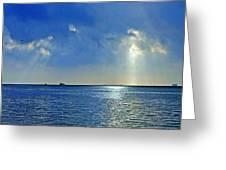 Morning Has Broken Galveston Bay Greeting Card