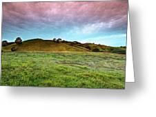 Morning Hillside Greeting Card