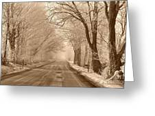 Morning Ice And Fog Greeting Card