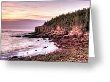 Morning In Acadia Greeting Card