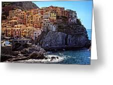 Morning In Manarola Cinque Terre Italy Greeting Card