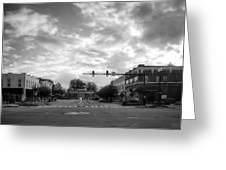 Morning In Murphy North Carolina In Black And White Greeting Card